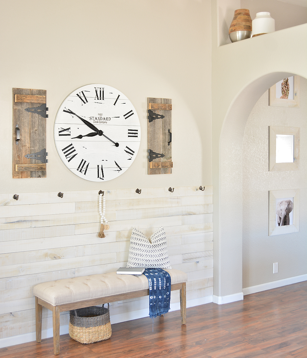 {DIY} Entryway with Weaber Lumber Wallboards