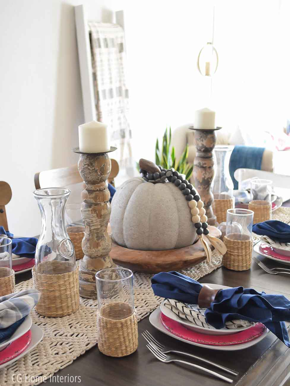 Boho Inspired Fall Tablescape