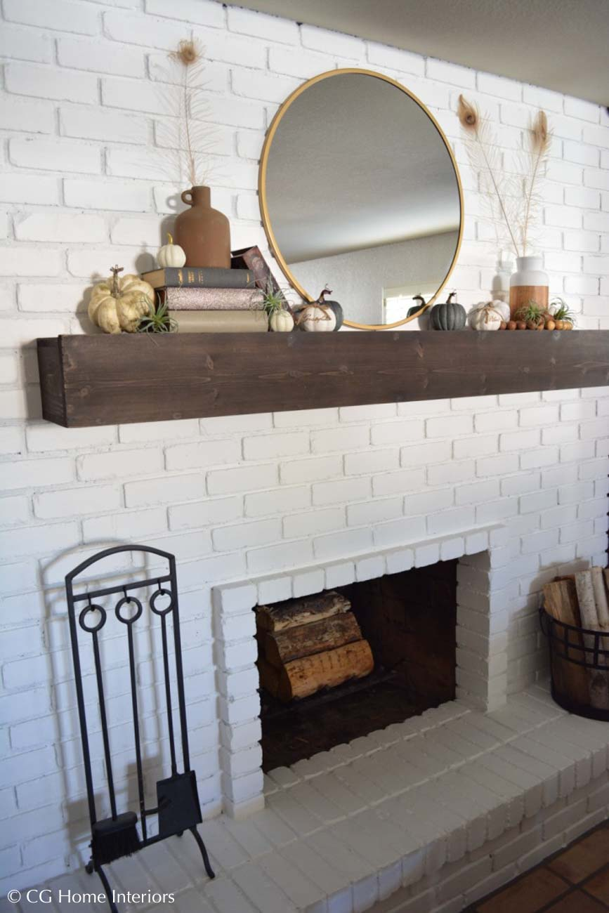 Floating Fireplace Mantle DIY