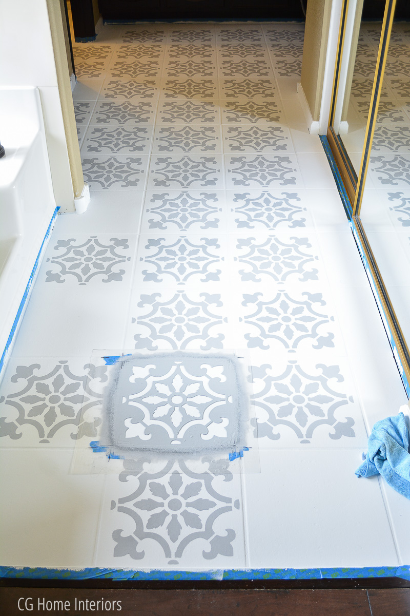 How to DIY Painted Faux Cement Tile