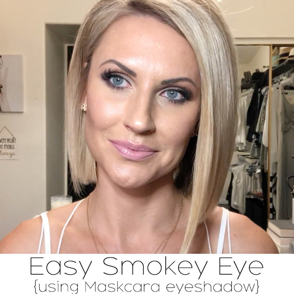 Easy Smokey Eye Tutorial With Maskcara Eyeshadow