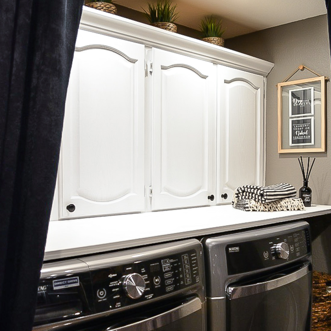 Budget Small Laundry Room Makeover