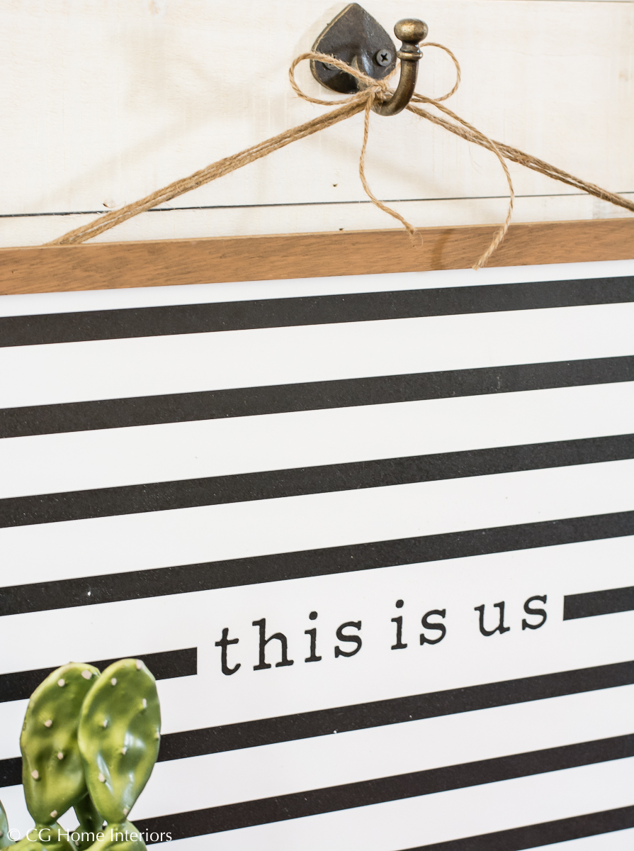 Money Saving Tip: Find Versatile Pieces For Your Home, Kirklands Black and White Striped This Is Us Wall Plaque