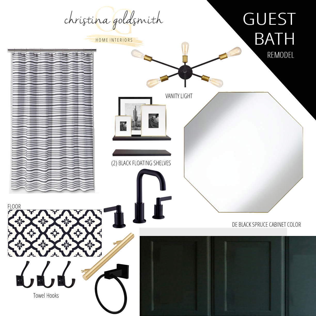Updated Mood Board for Week 3 One Room Challenge