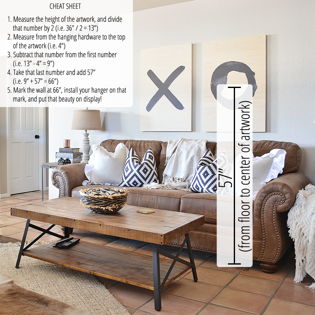 Correct Height To Hang Pictures: Interior Design Tip: How To Hang Wall Decor At The Correct