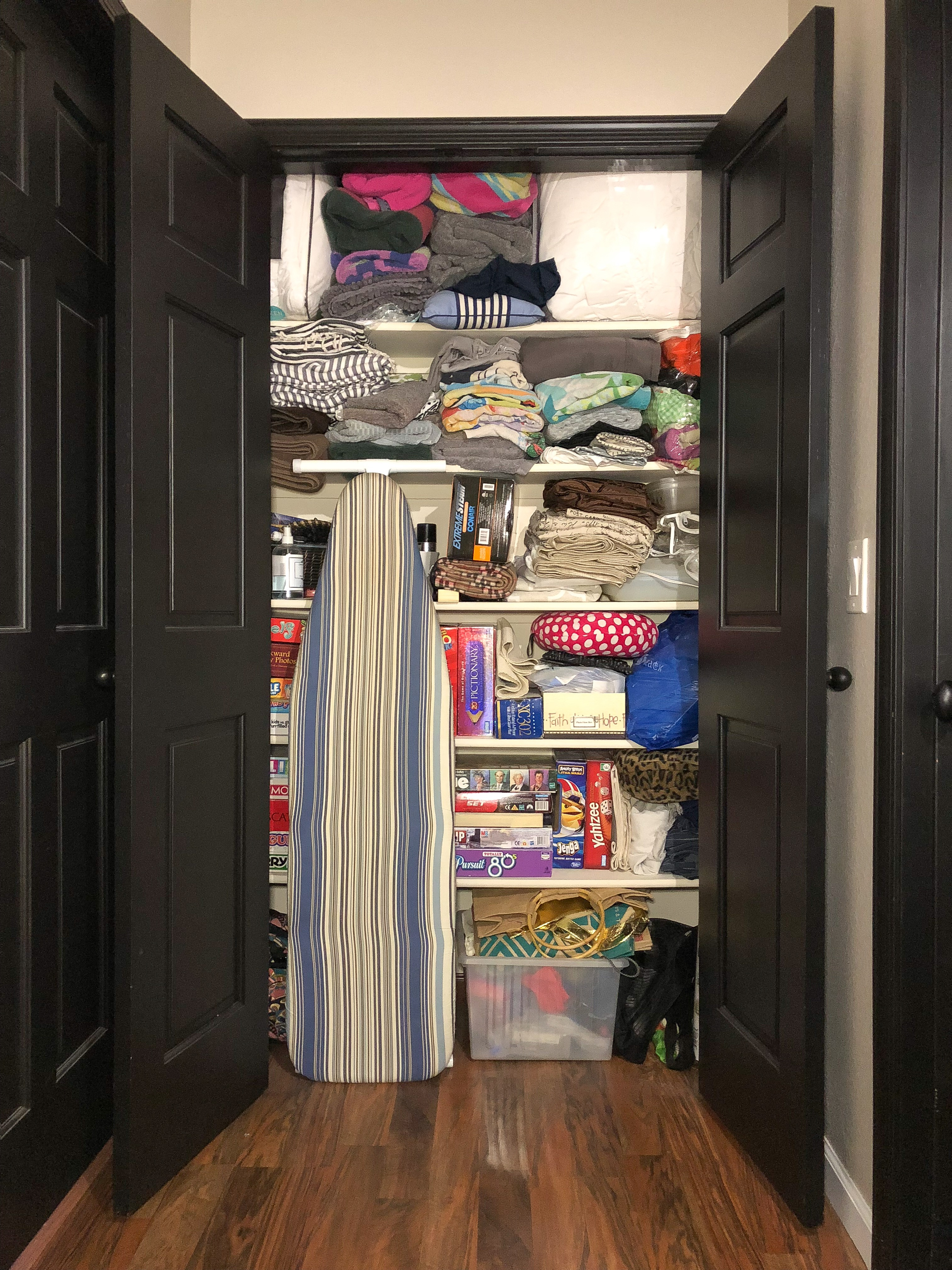 Before Photo of Disorganized Closet