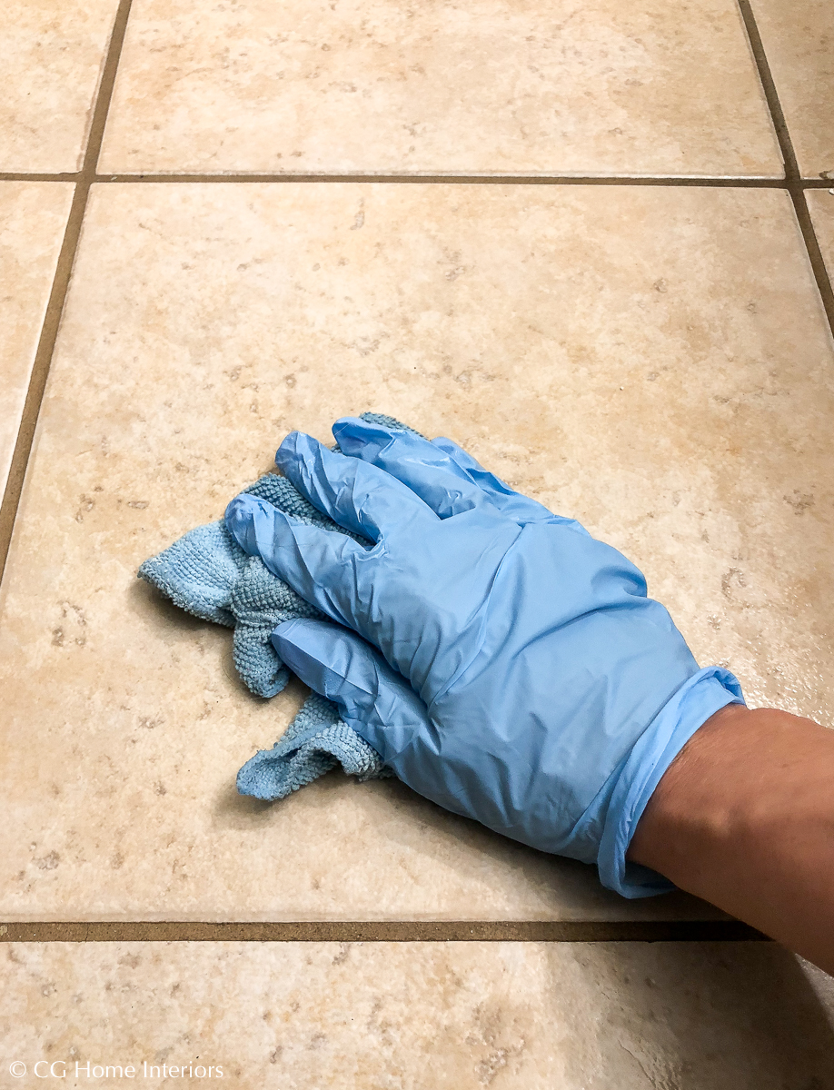 Guest Bathroom Renovation Progress – Affordable Flooring, Cleaning, TSP