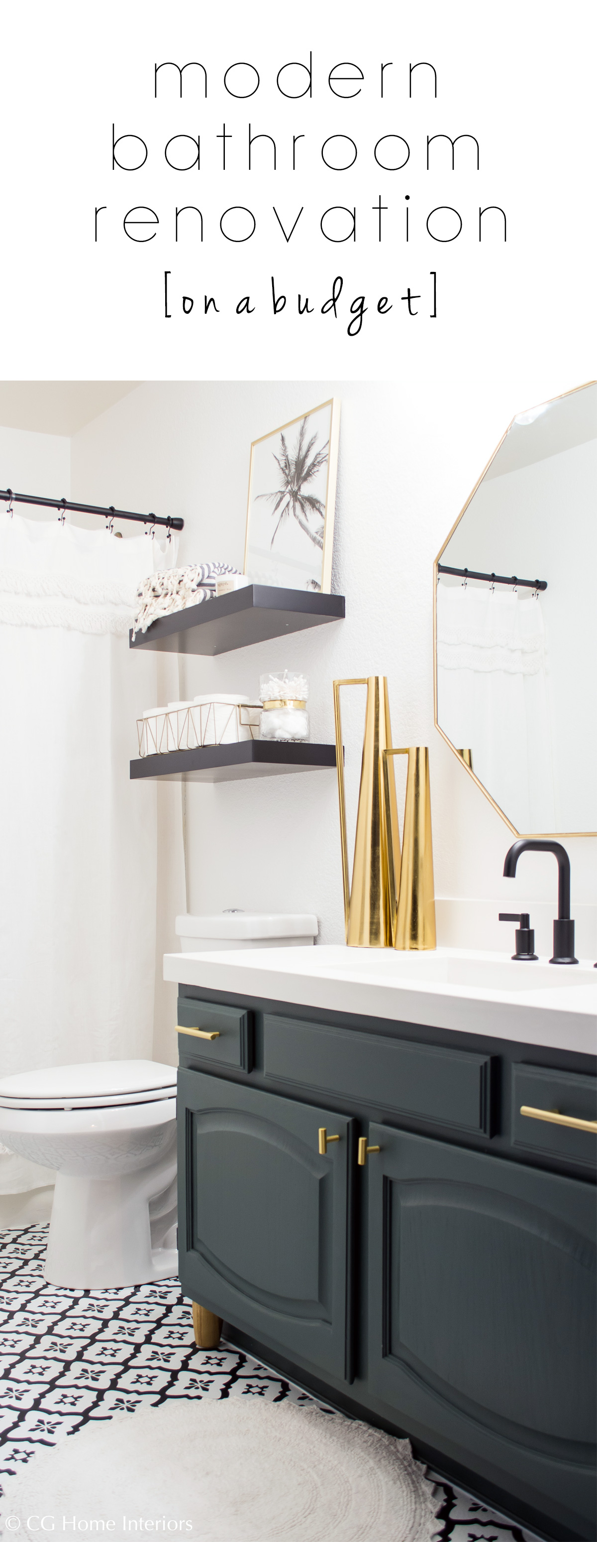 Pinterest Modern Guest Bathroom Renovation on a Budget – One Room Challenge REVEAL