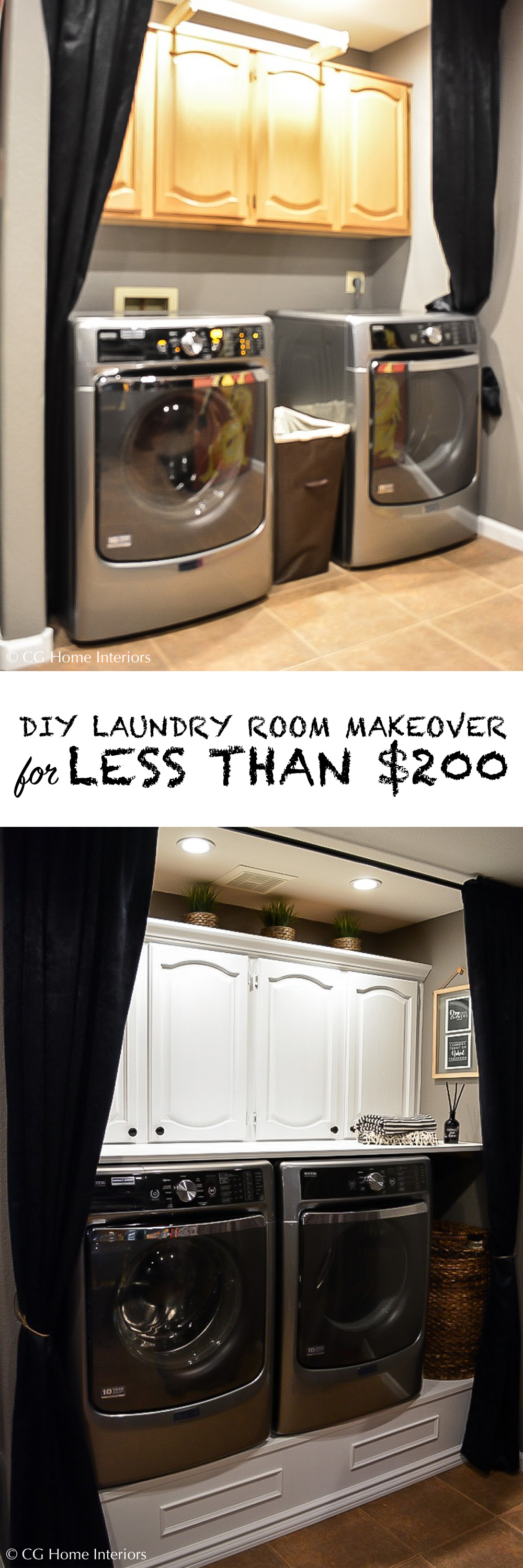 Pinterest Image Small Laundry Room Makeover on a Budget