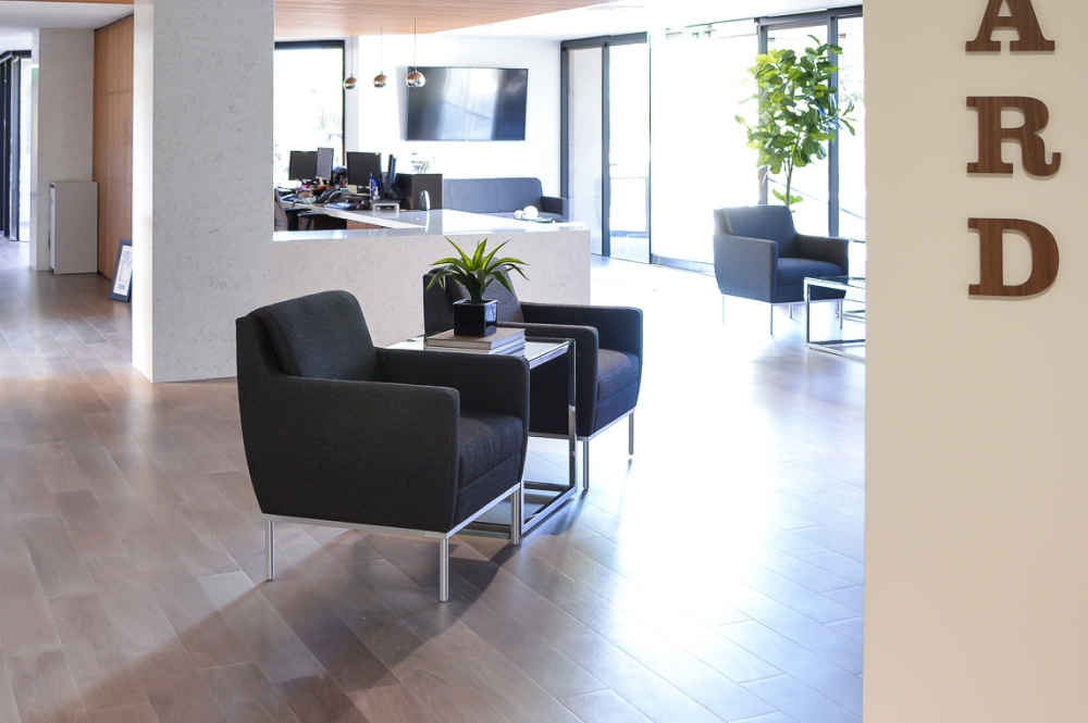 Corporate Office Building Decor and Design, Lobby and Waiting Area