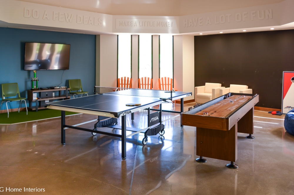 Corporate Office Building Decor and Design, Recreational Break Room
