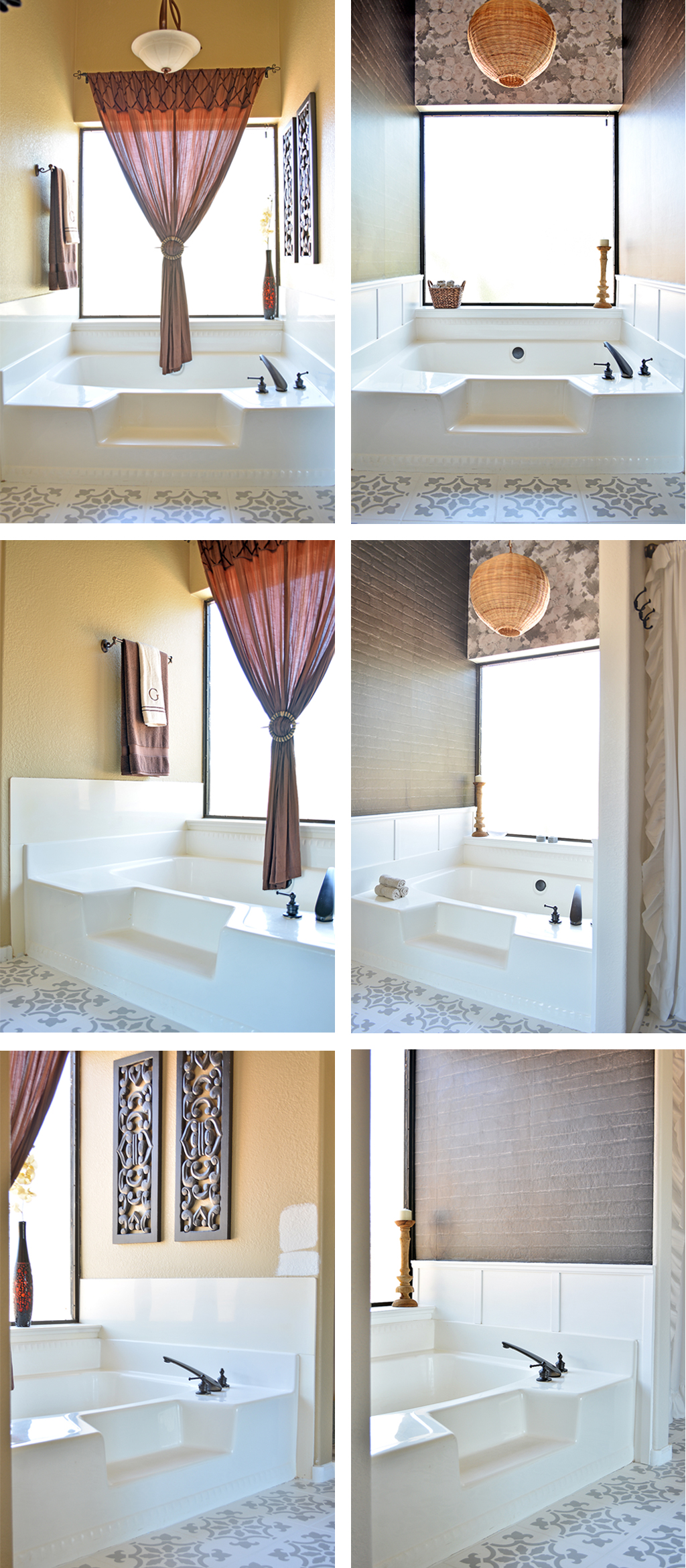 Inexpensive Tub Update with Decorative Moulding